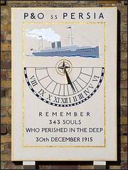 P&O SS Persia Centennial Memorial Sundial (fstop186) Tags: po sspersia sundial memorial centennial tribute torpedoed war death german submarine old rare