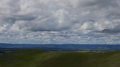 Big Al and?? (overflow50) Tags: paragliding paraglider canberra spring springhill sky clouds