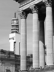 Town Hall and BT Tower, Birmingham (Steve Hobson) Tags: bt tower town hall birmingham