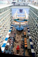Inside Allure (LarryJay99 ) Tags: above cruise lines curves cruiseship balconies boardwalk layers caribbean royalcaribbean caribbeansea allureoftheseas canonefs18135mmf3556is ilobsterit