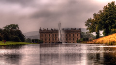 Chatsworth House (Raven Photography by Jenna Goodwin) Tags: from park old autumn light england people house lake jenna motion black fern color colour building green art history fall classic nature fountain beautiful grass leaves lines gardens architecture clouds dark landscape fun bay hall big movement aperture focus gate europe long exposure elizabeth dof estate boobs gorgeous derbyshire fast calm line mining beam clean clear dash bark bennet hedge lane historical british everyone alpha a200 eurasian darcy hdr chatsworth brocade adjustable goodwin 3exp flimed