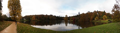 Lake Panorama 4731_4739 (Thorbard) Tags: travel autumn trees panorama lake tree water season walking stitch path walk wide wideangle somerset stourhead wiltshire nationaltrust stitched autumnal waterside pathway stourton englanduk autumn2012