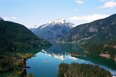 (andybokanev) Tags: mountain lake film analog 35mm landscape washington glacier alpine pacificnorthwest northcascades canonat1 diablolake ektar100