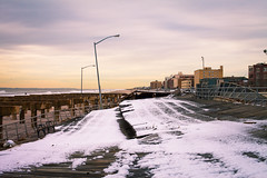 The Day After (Jorge Quinteros) Tags: nyc november snow beach canon 50mm sandy queens rockaway hurrican 2012 5dmii