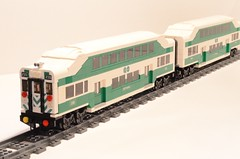 Lego GO Train Coach Set (michaelgale) Tags: train lego passenger gotrain moc gotransit f59ph