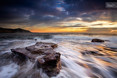 Triangle (SoniaMphotography) Tags: morning seascape motion water sunrise canon australia coastal nsw 7d southcoast goldenhour coalcliff