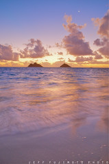Lanikai Civil Dawn (j . f o o j) Tags: sunrise hawaii nikon oahu hdr kailua mokes mokulua d300 lanikaibeach nikkor1755mmf28 twinislands jfooj jefffujimoto 3exposures1stop