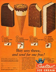 1965 Sealtest Ice Cream Bars, Ice Cream Cones, Toffee Krunch Bars, Ice Cream Sandwiches (1950sUnlimited) Tags: food design desserts icecream 1950s packaging snacks 1960s dairy midcentury snackfood sealtest