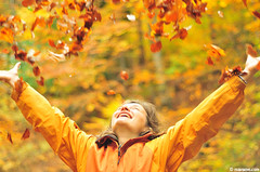 pure joy (.:: Maya ::.) Tags: autumn woman mountains fall colors girl smiling female joy bulgaria leafs    rodopi   rhodope  mayaeye mayakarkalicheva