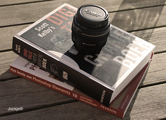 Welcome 50mm 1.4........ (Joosje) Tags: stilllife scott lens 50mm 14 books infocus kelby highquality