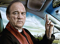 "JIM BELUSHI: ""Somebody Up There Loves You!"" (The PIX-JOCKEY (visual fantasist)) Tags: show sky cinema celebrity art photoshop god joke contest fake jim humour hollywood vip photomontage chop actor priest belushi spettacolo fotomontaggio sacerdote prete jimbelushi robertorizzato pixjockey"