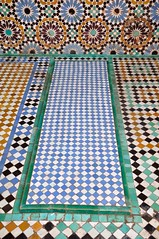 2010 01 Morocco, Saadi tombs 32 (Mark Baker, photoboxgallery.com/markbaker) Tags: tile photo baker mark morocco tiles photograph marrakesh ornate tombs 2010 plasterwork saadi picsmark