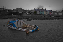 Drowned (Chris Willis 10) Tags: houses colour simon wet wales boat saturated sunk selective sait drowned popping anglesey simonsait