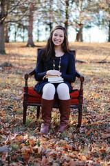Abbie Senior Session (Emma.Anderson.) Tags: lighting cute fall love feet senior girl leaves vintage outdoors photography log chair dof boots bokeh style books emmaleigh abbiesenior