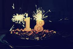 Eighteen II (João Cotovio) Tags: birthday cake lights candles sparklers bday bolo luzes aniversário velas joão eighteen foguetes parabéns dezoito pintarolas cotovio