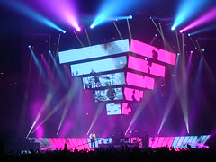 Muse 11 (notFlunky) Tags: show uk light england music men rock manchester lights concert neon stadium gig group band pop muse bulbs roll