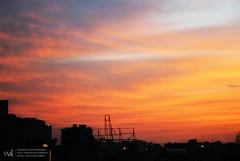 DSC_0093 (CreativeWael) Tags: blue sky orange cloud sun color tourism nature nikon background romance d3100
