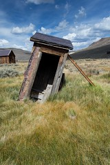 Leaning outhouse (Xiphoid8) Tags: old abandoned decay rustic ghosttown bodie outhouse bodieghosttown monocounty abandonedtown bodiecalifornia oldouthouse bodieca goldtown abandonedouthouse monocountyca leaningouthouse bodieouthouse proppedupouthouse