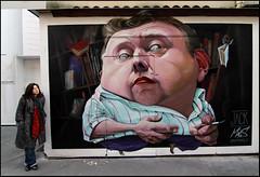 Antonello Macs Piccinino (Chrixcel) Tags: street portrait paris wall graffiti tag graff mur patron spraycanart rénovation libraire lasamaritaine éphémère lagalcante êtresaimés bouillesdeshalles