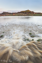 Overflow (etunar) Tags: sunrise flood glastonbury somerset overflow glastonburytor brue goldenlight somersetlevels isleofavalon ukstorm riverbrue
