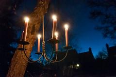 Blue Hour Candlelight (Sky Noir) Tags: blue usa night fire photography twilight candle outdoor unitedstatesofamerica clear celebration flame hour candlelight skynoir