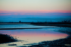 Sunset Reflection (juliereynoldsphotography) Tags: sunset sea sky lowtide wirral leasowe juliereynolds