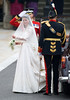 Catherine Middleton arrives at Westminster Abbey to marry Prince William