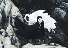 Yin and Yang (Brad.Wagner) Tags: light white black dark mask yang same cape opposites dual yin yinandyang