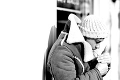 Smoking (philipjohnson) Tags: street light bw white black west st nikon cigarette smoke smoking nikkor f18 cigarettes dundas ais portaiture 105mm dundaswest dundasstreetwest d700 nikkor105mmf18ais