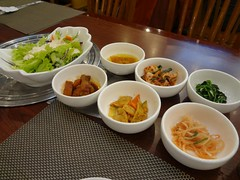 Korean Appetizers @Hanjibo, Gubei, Shanghai (Phreddie) Tags: china food hot dinner shanghai tofu pot korean appetizers gubei doufu 121128 jjiae hanjibo