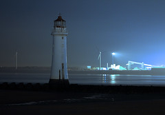 The Lighthouse At Night (Minxy*) Tags: lighthouse nighttime navigation windturbine wirral sigma1020mm 1827 newbrightonlighthouse perchrocklighthouse canon7d