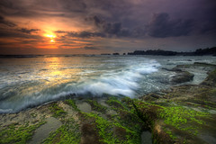 Keep Coming Back [Explore] (Pandu Adnyana (thanks for 100K views)) Tags: ocean sunset bali beach rock indonesia wave stunningskies mengening