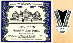 1991 - Niersteiner Gutes Domtal (Rhine) (roger4336) Tags: germany deutschland wine label 1991 rhine rhein neumann wein rheinlandpfalz rheinhessen etikett balthasarneumann valckenberg pjvalckenberg