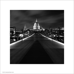 St. Paul's Cathedral, London (Ian Bramham) Tags: bridge white black london night photo bridges milleniumbridge stpaulscathedral ianbramham