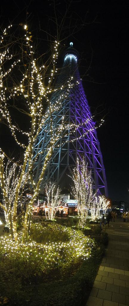 Tokyo Skytree illumination night