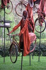 "Guy LORGERET - ""A bicyclette"" (Thethe35400) Tags: chateaubourg armilin sculpture escultura scukpture samtidakonst artecontemporanea artecontemporânea artcontemporani artecontemporáneo zeitgenössischekunst scultura skulptur estatua lesentrepreneursmecenes dealbhóireacht cycle bicycle bicyclette vélo bike fahrrad bicicletta bicicleta rothar tricycle triciclo trírothach dreirad rouge red rojo vermelho rosso rot"