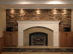 custom fireplace with built ins