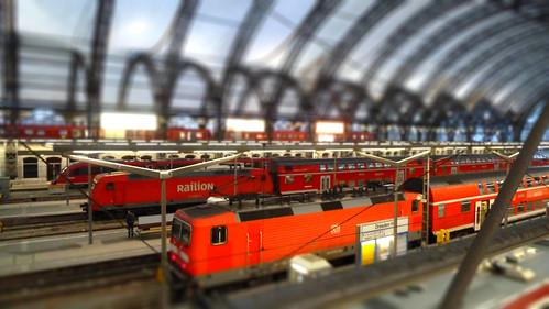Dresden Hautbahnhoff Main Train Station Tiltshift Germany
