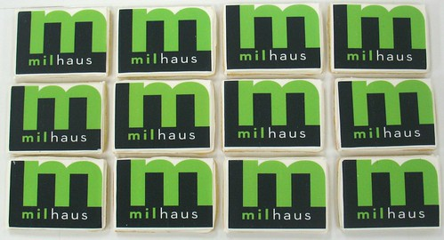 [Image from Flickr]:Milhaus Logo Cookies