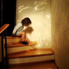 Mara en la escalera (ix2013) Tags: wood light luz girl mxico stairs mexico calcetn madera sock mexicocity df nia escalera mara squart escalones cuadrada israfel67