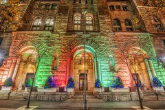 The courthouse in downtown Pittsburgh is decorated for Christmas HDR (Dave DiCello) Tags: beautiful skyline photoshop nikon pittsburgh tripod usxtower christmastree mtwashington northshore northside bluehour nikkor hdr highdynamicrange pncpark thepoint pittsburghpirates cs4 ftpittbridge steelcity photomatix beautifulcities yinzer cityofbridges tonemapped theburgh clementebridge smithfieldstbridge pittsburgher colorefex cs5 ussteelbuilding beautifulskyline d700 thecityofbridges pittsburghphotography davedicello pittsburghcityofbridges steelscapes beautifulcitiesatnight hdrexposed picturesofpittsburgh cityofbridgesphotography