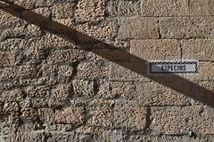 Oblique (jacques_teller) Tags: spain salamanca light sun stone wall shadow nikon texture ocre especias abstract villamayor heritage worldheritage