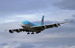 HL7614 Airbus A380-861 Korean Air (R.K.C. Photography) Tags: uk london unitedkingdom aircraft airbus a380 ke lhr kal airliners hattoncross myrtleavenue koreanair egll londonheathrowairport a380861 ke907 canoneos100d hl7614