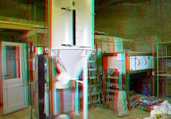 Molen De Walvisch Schiedam 3D (wim hoppenbrouwers) Tags: molen dewalvisch schiedam 3d anaglyph stereo redcyan