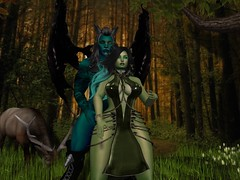 Forest Demons (Syren Nightfire) Tags: soul secondlife exile bentbox gauze neverwish catwa slink hourglass eve adam zibska deviousmind blasphemy lumae forest demon
