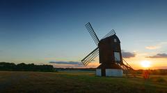 Pitstone windmill (JonoHub) Tags: windmill pitstone buckinghamshire sunset rural nationaltrust clearsky