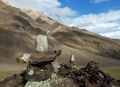 Natural Shivling ...{EXPLORED} (rajnishjaiswal) Tags: spitivalley spiti chandratallake chandratal mountains stone shiva shivling natualshivling bluesky clouds