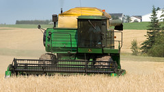 CombineAug2009NearSsideGPEIBLS_6823x_AGR (Government of Prince Edward Island) Tags: combine grain cereals johndeere harvesting harvest