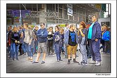 IMG_1641 BLUE (Derek Hyamson) Tags: candid hdr people samolyett busker audience churchstreet liverpool