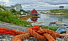 Rope Above the Cove (photo fiddler) Tags: rope peggyscove novascotia village atlantic august 2016